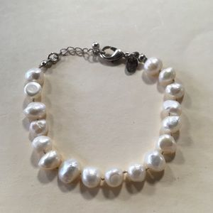 Jewelry - Genuine Knotted Pearl Bracelet, MO279